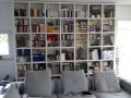 Bücherwand auf Maß in weiß