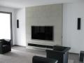 TV-Wand in imi-Beton